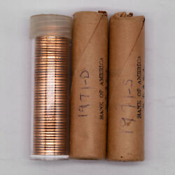 1971 P/d/s Lincoln Memorial Cent 1c Estate Unsearched Gem Bu Red - 3 Rolls Total