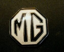 1950and039s 1960and039s Mg Mascot Metal And Enamel Radiator Grill Emblem Badge