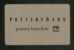 Pottery Barn Black On Silver 2017 Gift Card 0