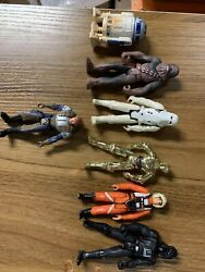 Lot Star Wars Toys Figures Lfl Kenner Hasbro Mixed Action Figures See Pictures