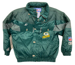 Vintage 90s Logo Athletic Green Bay Packers Nfl Jacket Coat Menand039s Xl