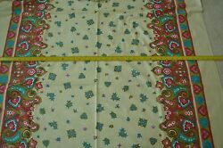 By the Half Yard 44quot; Vintage Border Prints on Soft Cream Polished Cotton M5248
