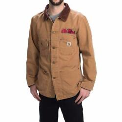New Weathered Cotton Duck Chore Coat Jacket Brown Mississippi M
