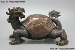 Chinese Mythical Animals God Of The Northern Sky Xuanwu Dragon Tortoise Statue