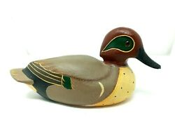 Ducks Unlimited Wooden Decoy Duck 10 Solid Carved Wood Hand Painted Hunt Decor