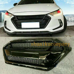 Fit For 17 18 Elantra Avante Ad Grille Grill Gloss Black With Front Lip Splitter