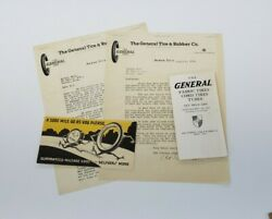 1918 General Tire And Rubber Company Brochure Packet - Ford Model T - Jumbo Tire