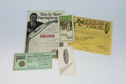 1918 Toliver Tube And Tire Co Brochure Packet - Ford Model T - Denver Auto History