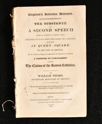 1829 Englandand039s Liberties Defended The Substance Of A Second Speech W Thorp