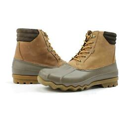 Sperry Mens Avenue Duck Boots Tan Brown 8.5 New