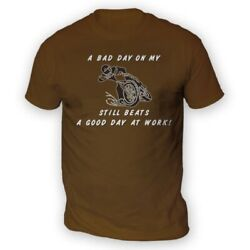 Bad Day On My Motocross Beats Work Mens T-shirt -x13 Colours- Gift Present Race
