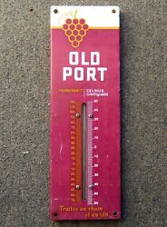 Nice Shiny Canadian Old Port Cigars Tin Thermometer Sign Free Shipping