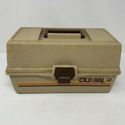 Vintage 1970and039s Old Pal 1060 Fishing Tackle Box/ Organizer Box - Everything Works