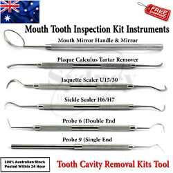 Teeth Cleaning Inspection Kit Instruments Plaque Calculus Tartar Remover Lab