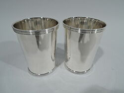 Fisher Mint Juleps - 50 - Pair Julep Cups Barware - American Sterling Silver