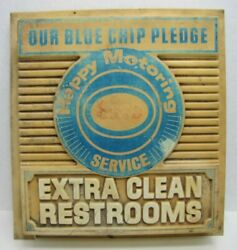 Esso Extra Clean Restrooms Original Old Gas Station Sign Humble Exxon Ad