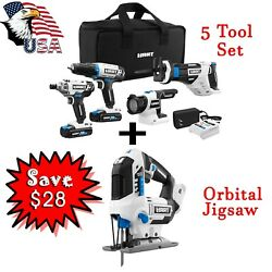 20 Volt 5 Power Tool With Jig Saw Lithium-ion Battery Tool Bag Best Offer