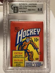 1972 - 73 Opc 1st Series Wax Pack Gai 9.5 Gem Mint Rare Series From Famous Find