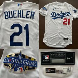 🏆 2020 World Series Dodgers Walker Buehler All Star Jersey Game Used Mlb Coa