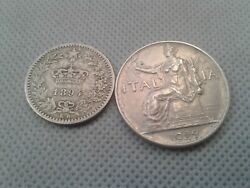 Old Coin Lots World/foreign Coins 1894-1922 Regno D' Italia Collectibles