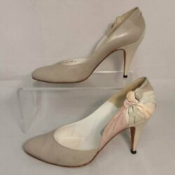Vintage Cesare Martinoli Caimar Gray/multi Leather Pumps Size 8.5 - Hand Made In