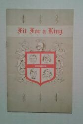 National Dairy Council Fit for a King Cookbook food recipes Vintage From Vermont