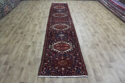 Antique Karaja Runner Of Traditional Design With Eight Medallions 410 X 75 Cm