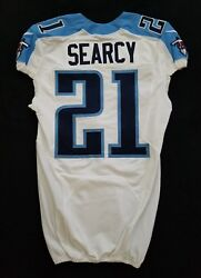 21 Da'norris Searcy Of Tennessee Titans Nfl Locker Room Game Issued Jersey