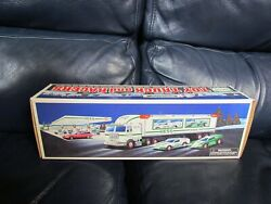 1997 Hess Toy Truck And Racers Mint New In Box