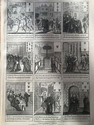 Antique Print Dated 1876 Sacheverell Cards Reign Of Queen Anne London Engraving