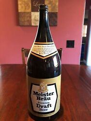 Meister Brau Premium Draft Beer 1/2 Gallon Bottle - Extremely Rare- Ex Cond