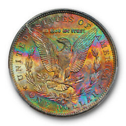 1884 O 1 Morgan Dollar Pcgs Ms 64 Uncirculated Monster Toned Beauty Pretty
