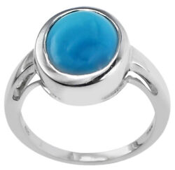 Sleeping Beauty Turquoise Natural Gemstone Ring 4.85 Ct. 18k Rose Gold Jewelry