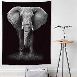 Elephant Large Tapestry Wall Hanging Hippie Mandala Bedspread Dorm Throw Cover