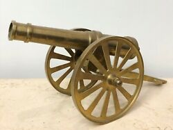 Vintage Solid Brass Military Cannon 1938