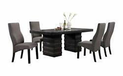 Pilaster Designs - Cappuccino Finish Wood Wave Design Dining Room Kitchen Tab...