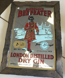 Burrough's Beefeater Mirror Sign