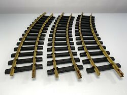 3pc Aristocraft Trains G Scale Brass Curved Track 14 Black Railroad Ties
