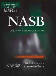 Nasb Clarion Reference Bible, Black Edge-lined Goatskin Leather... 9781107604148
