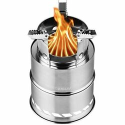 CANWAY Camping Stove Wood Stove Backpacking StovePortable Stainless Steel Wood $22.56