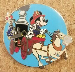 Disney Auctions Mickey And Goofy Horse Drawn Steam Fire Engine Le 250 Pin