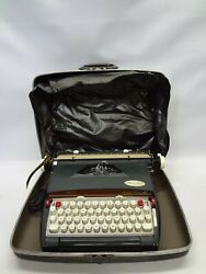 Vintage Sears Medalist Electric 12 Portable Typewriter W/carrying Case