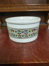 Royal Doulton Fireglow Souffle Dish 6 1/2 Wide - Superb Unused Condition