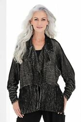 Nwtand039s Cynthia Ashby Splendor Black And White Ribbed Heavy Cotton Jersey Jacket M