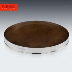 Hunters Solid Silver And Wood Drinks Serving Tray, Pushkin Alexander C.2019