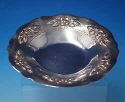 Aztec Rose By Maciel Mexican Sterling Silver Candy Dish 1 X 6 1/2 4998