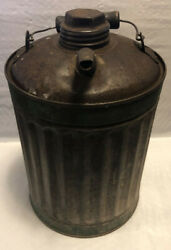 Antique Vintage Metal One Gallon Gas Can 10 Height