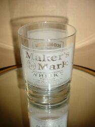 Rare Makers Mark Kentucky Whisky Frosted/etched Glass Star Hill Farm Distillery