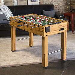 Soccer Football Foosball Table Game Competition 2-player Wooden Kids Teen Play