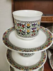 1 Royal Doulton Fireglow Cup And Saucer - Superb Lightly Used Condition
